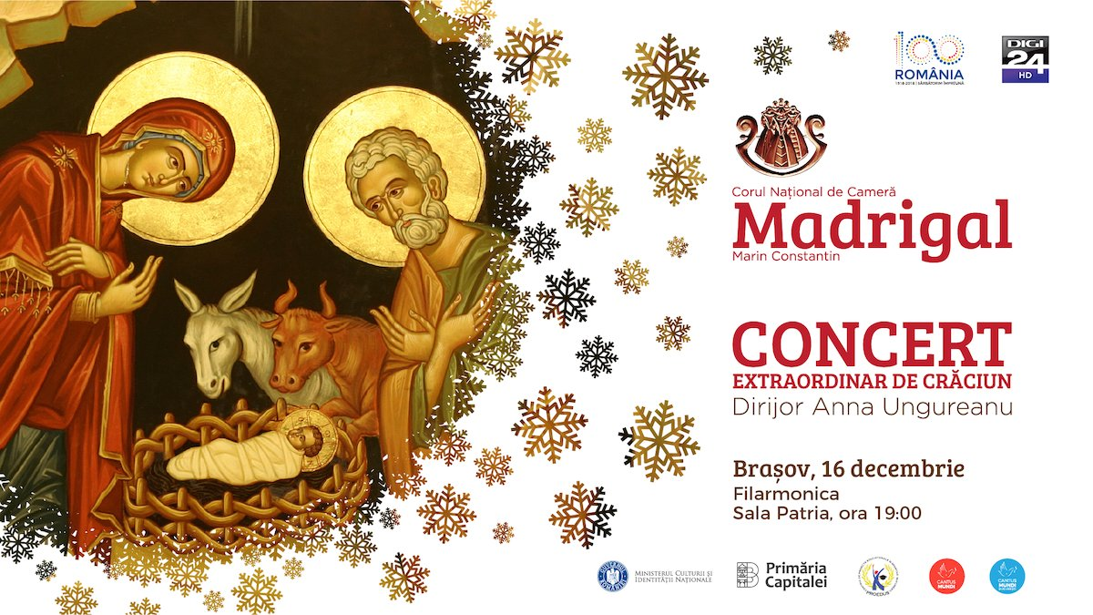 Concert extraordinar de Craciun Corul National de Camera Madrigal - Marin Constantin - Brasov