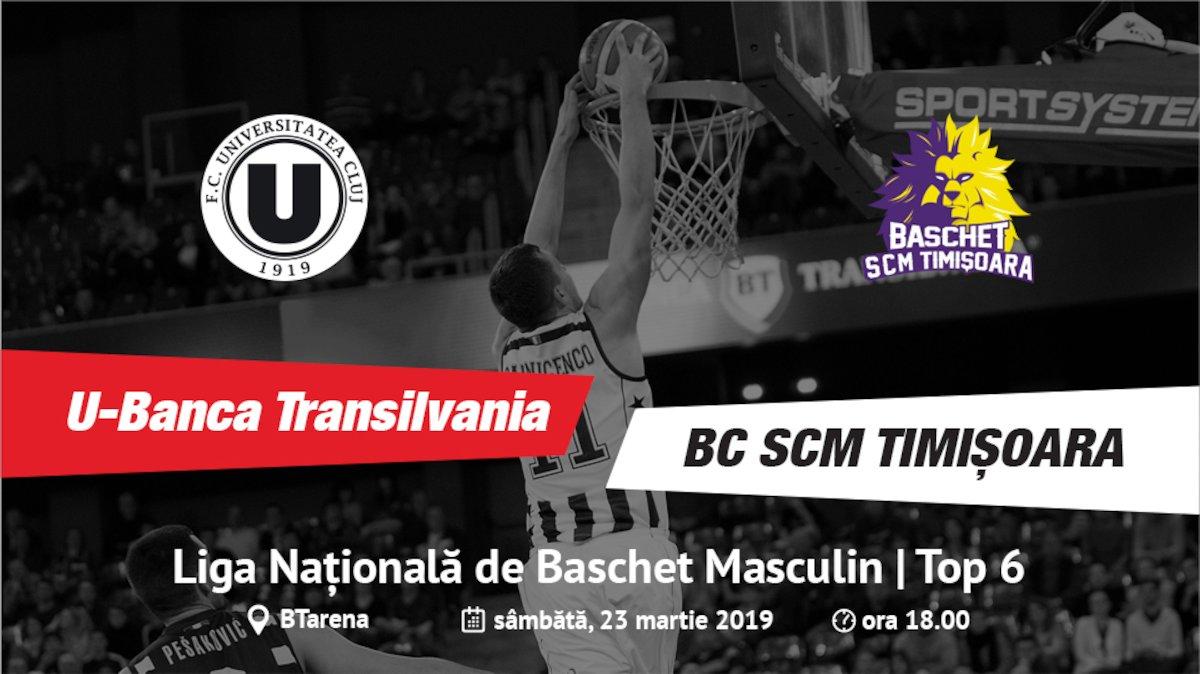 bilete U-Banca Transilvania - BC SCM Timisoara