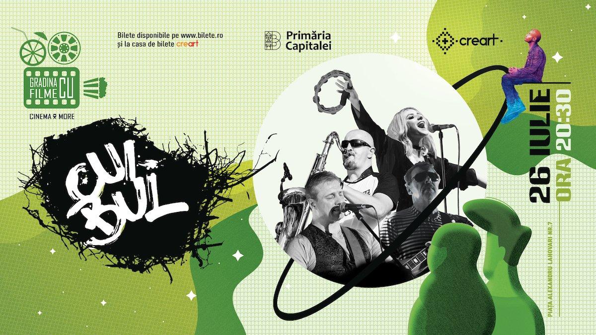 bilete Concert Cuibul la Gradina cu filme