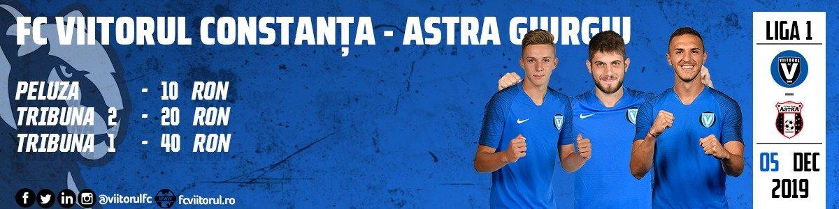 bilete FC VIITORUL - AFC ASTRA Giurgiu - CASA Liga 1