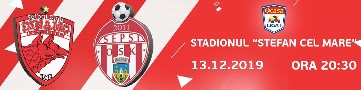 bilete FC Dinamo - Sepsi OSK Sf. Gheorghe - Casa Liga 1
