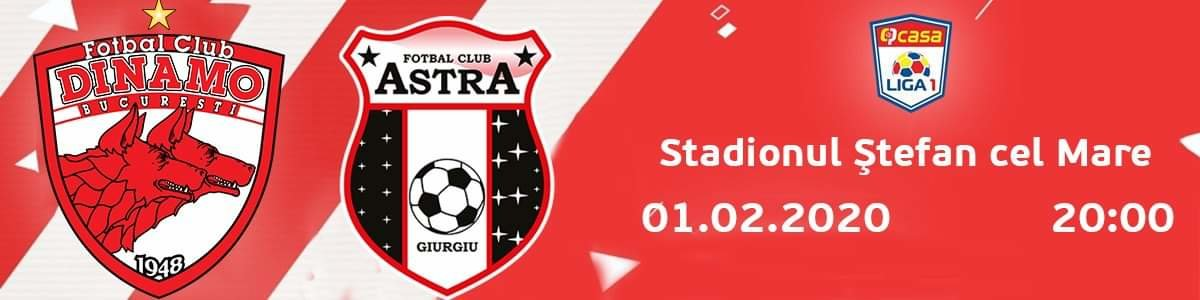 bilete FC Dinamo Bucuresti - AFC Astra Giurgiu - Casa Liga 1