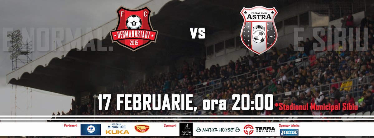bilete AFC Hermannstadt - AFC Astra Giurgiu - CASA Liga 1
