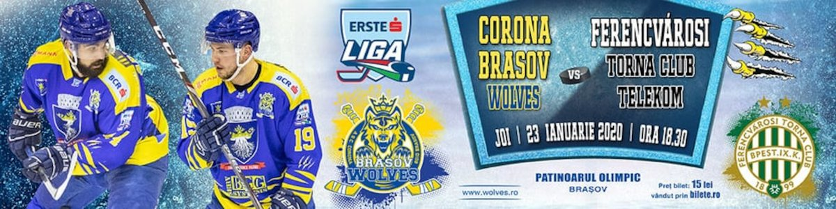 bilete CSM Corona Brasov Wolves - Ferencvarosi Torna Club Telekom
