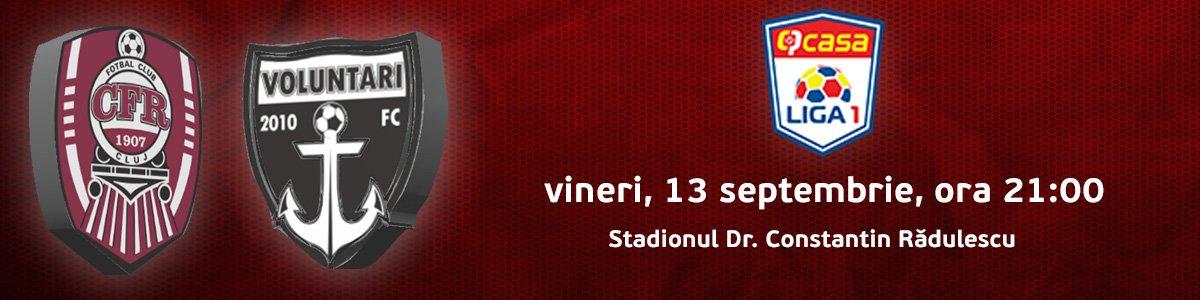 bilete CFR 1907 Cluj v FC Voluntari