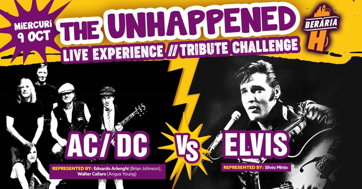 bilete The Unhappened AC/DC vs Elvis