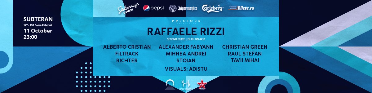 bilete 2nd anniversary w/ Raffaele Rizzi and High Sounds squad at Subteran
