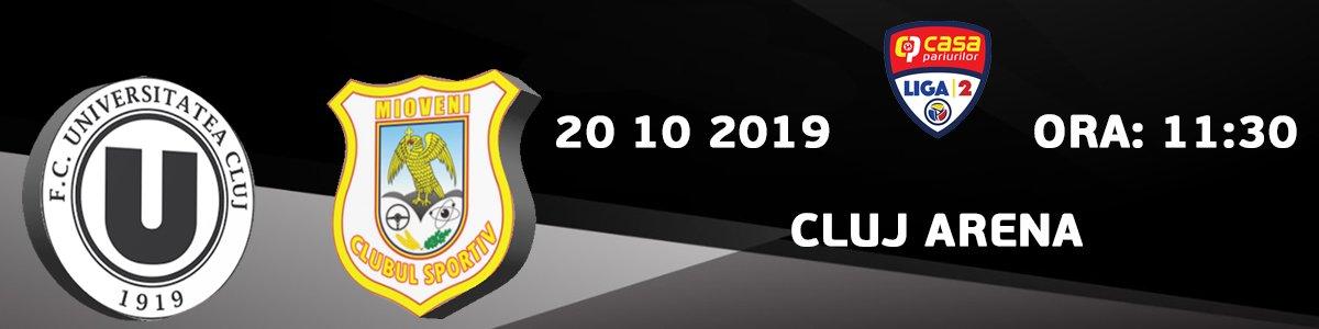 bilete FC Universitatea Cluj - CS Mioveni