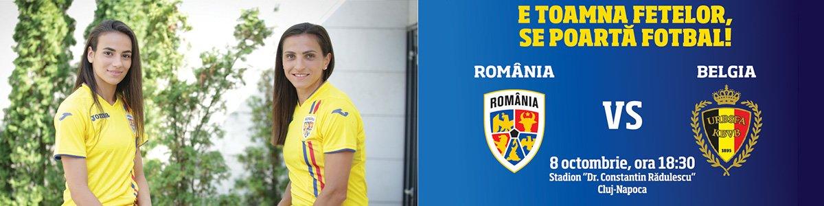 bilete Romania - Belgia Fotbal Feminin