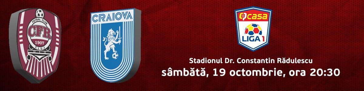 bilete CFR 1907 CLUJ - Universitatea Craiova