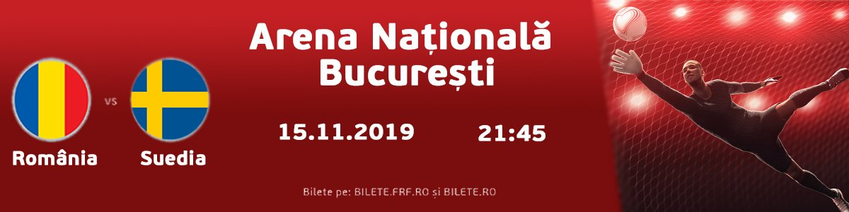 bilete Romania - Suedia