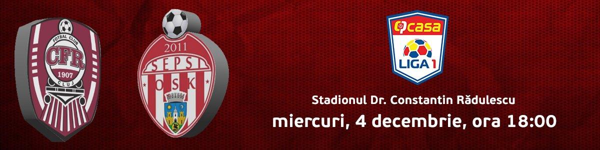 bilete CFR 1907 Cluj v Sepsi OSK Sf. Gheorghe