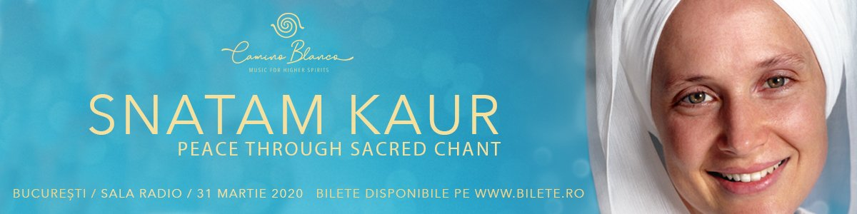 bilete SNATAM KAUR - Peace through sacred chant