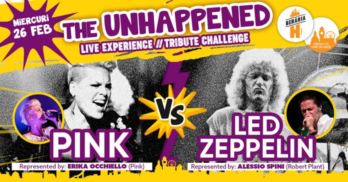 bilete Pink vs Led Zeppelin The Unhappened Live Experience