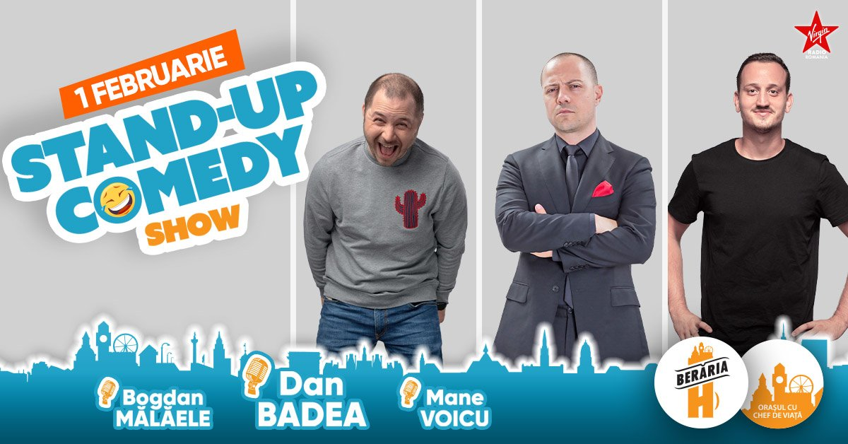 bilete Stand-up Comedy: Dan Badea, Mane Voicu, Bogdan Malaele