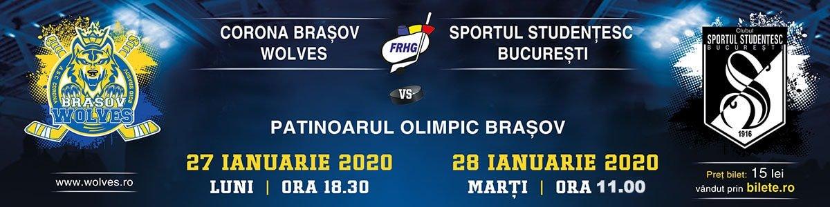 bilete CSM Corona Brasov Wolves - Sportul Studentesc Bucuresti