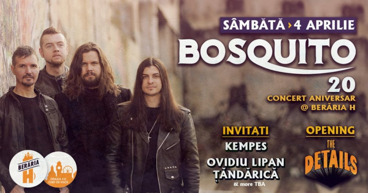 bilete Concert Bosquito