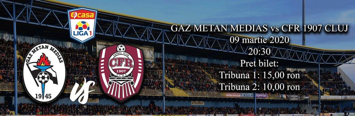 bilete Gaz Metan Medias - CFR 1907 Cluj - CASA Liga 1