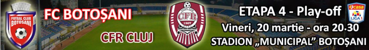 bilete FC Botosani - CFR 1907 Cluj - CASA Liga 1