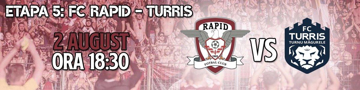 bilete FC Rapid 1923 - Turris Turnu Magurele