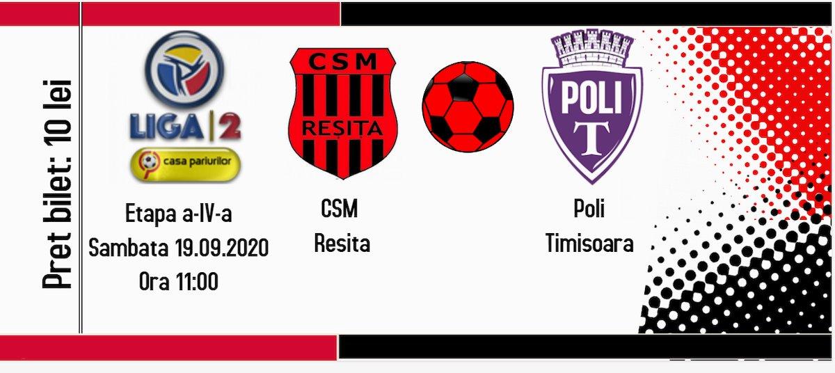 bilete CSM Resita - Politehnica Timisoara