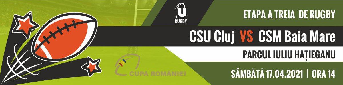 bilete Cupa Romaniei la Rugby - CSU Cluj - CSM Baia Mare