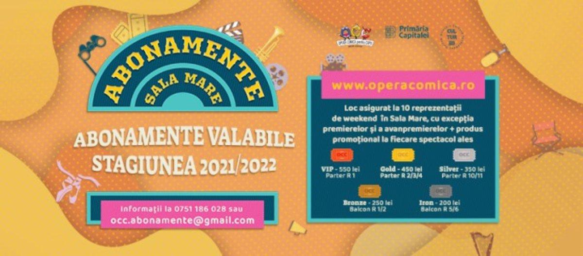 bilete Abonamente la Opera Comica pentru Copii
