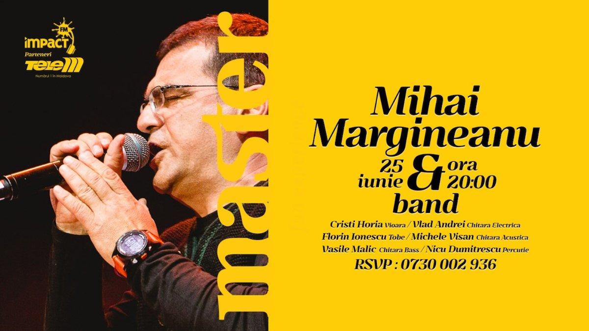 bilete Concert Mihai Margineanu