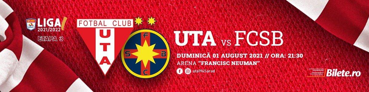 bilete UTA Arad - FCSB - CASA Liga 1
