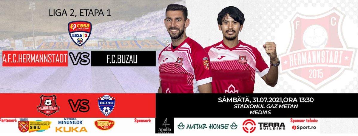 bilete AFC Hermannstadt - FC Buzau
