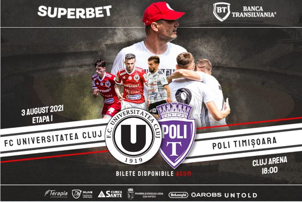 bilete FC Universitatea Cluj - SSU Politehnica Timisoara