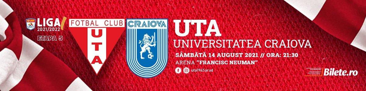 bilete UTA Arad - CS Universitatea Craiova - CASA Liga 1