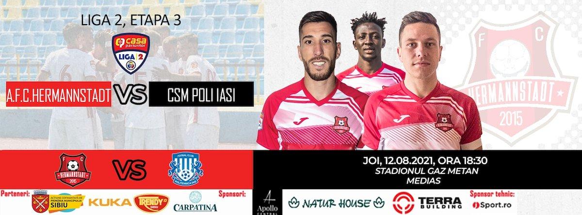 bilete AFC Hermannstadt - Poli Iasi