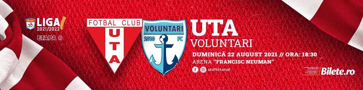 bilete UTA Arad - FC Voluntari - CASA Liga 1