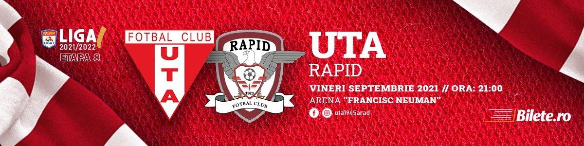 bilete UTA Arad - FC RAPID - CASA Liga 1