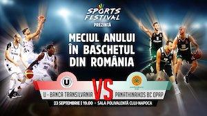 U Banca Transilvania vs Panathinaikos BC Opap