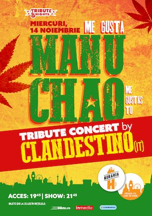 Me gusta MANU CHAO - Tribute Show by Clandestino