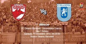 Bilete la  FC Dinamo Bucuresti - Universitatea Craiova