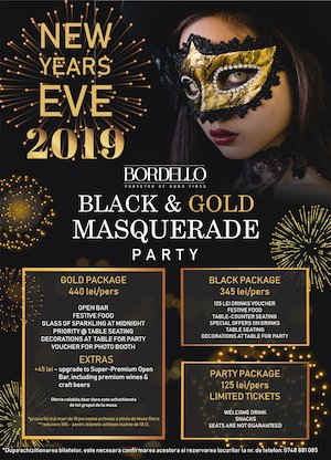 Bordello presents Black & Gold Masquerade