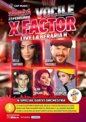 Vocile X Factor cântă la Berăria H
