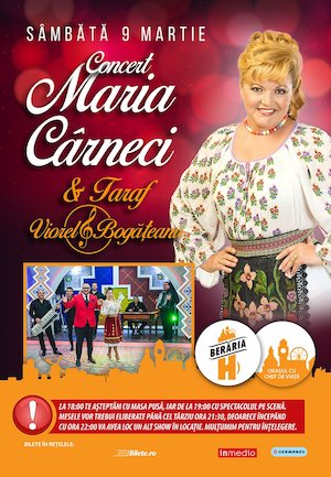 Concert Maria Cârneci și Taraf Viorel Bogățeanu