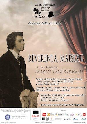Reverenta, Maestre! In Memoriam Dorin Teodorescu