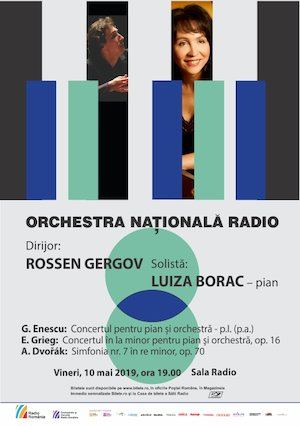 bilete Luiza Borac - Grieg - Orchestra Nationala Radio