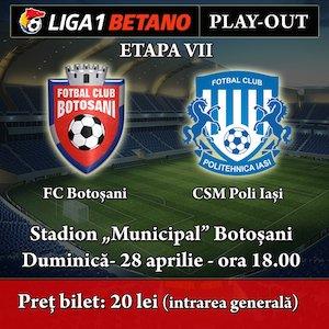 bilete FC Botosani - Poli Iasi