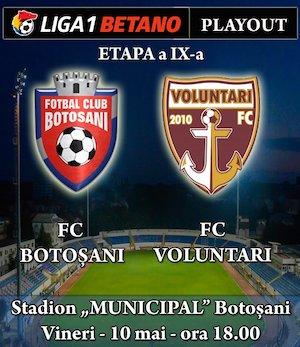 bilete FC Botosani - FC Voluntari