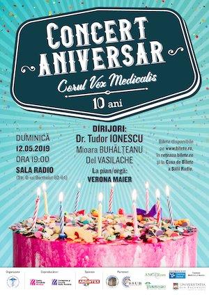 Concert aniversar - Corul Vox Medicalis la 10 ani