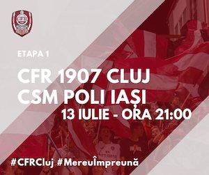 bilete CFR 1907 Cluj - Poli Iasi