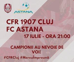 bilete CFR Cluj (ROU) - Astana (KAZ) - UCL
