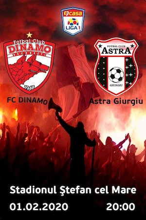 FC Dinamo Bucuresti - AFC Astra Giurgiu - Casa Liga 1