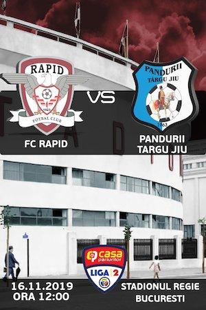 FC Rapid Bucuresti - CS Pandurii Targu Jiu